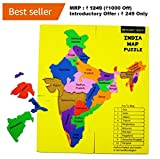 Beyond Logik India Map Foam Puzzle : Fun + Learn Educational Toy Return Gift