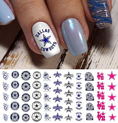 Dallas Cowboys Football Waterslide Nail Art Decals - Salon Quality]()