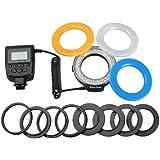 Aputure HL-48S LED Macro Flash Video Light 48 LED for Sony DRSL with 49mm, 52mm, 55mm, 58mm, 62mm, 67mm,72mm,77mm Lenses, Color Temperature Adjustment