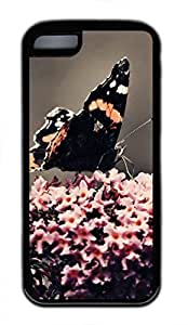 iPhone 5c case, Cute Black Butterfly iPhone 5c Cover, iPhone 5c Cases, Soft Black iPhone 5c Covers by runtopwell