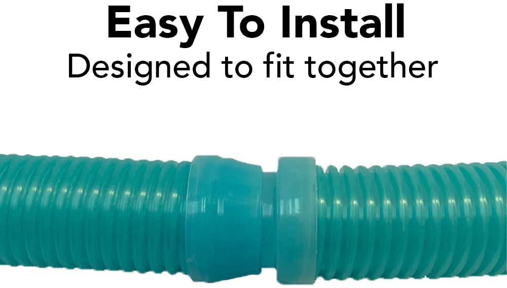 Navigator Baracuda G3//G4 /& More Universal Fit 4 Feet Long Puri Tech 6 Pack Universal Pool Cleaner Suction Hose 48 Inches Long Aqua Color for Kreepy Krauly