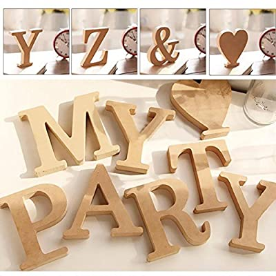 BaoST 1Pc Decorative Standing Wooden Alphabet Symbols Wooden Letter DIY Block Words Sign Hanging Wooden Tags for Bedroom Office Wedding Party Shop Decor L: Kitchen & Dining