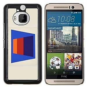 "Be-Star Único Patrón Plástico Duro Fundas Cover Cubre Hard Case Cover Para HTC One M9+ / M9 Plus (Not M9) ( Patrón de líneas abstractas 3D Art Blue"" )"