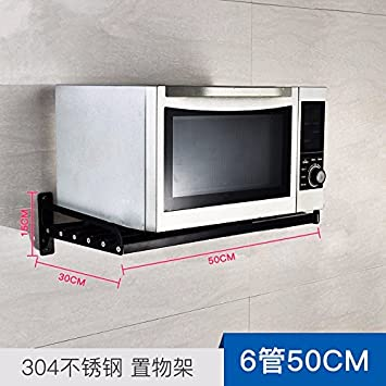 Amazon.de: lzzfw 304 Edelstahl Küchenregal Schwarz Mikrowelle ...