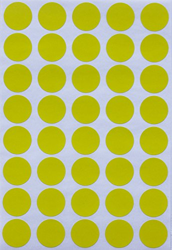 Royal Green Color Coding Labels dot Sticker - Yellow 19mm - 1000 Pack