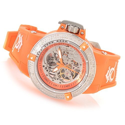 Invicta Womens Subaqua Noma III Anatomic Diamond Accented Seagull Mechanical Orange Watch 16770