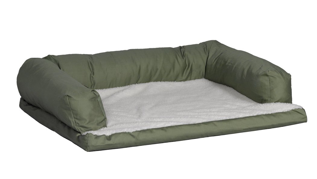 Midwest Quiet Time e'Sensuals Bolstered Orthopedic Pet Bed Sofa, 30-Inch by 40-Inch (Tan) BS3040FPTN