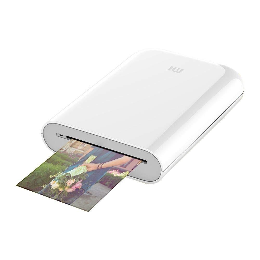Bluetooth,Carga USB,5 x 7.6 cm Impresiones,Compatible con iOS y Android. para xiaomi Impresora fotogr/áfica port/átil,impresi/ón sin Tinta White