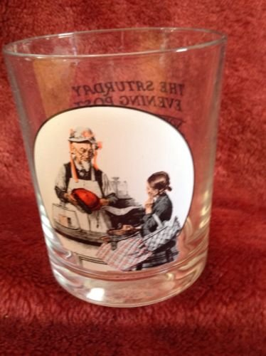 Vintage Norman Rockwell The Saturday Evening Post Glassware Collection The Model Tumbler Glass (The Saturday Evening Post Norman Rockwell Glassware Collection)