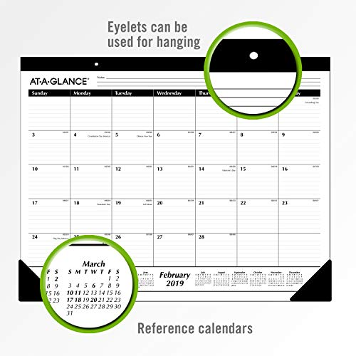 Large Product Image of AT-A-GLANCE 2019 Desk Calendar, Desk Pad, 21-3/4