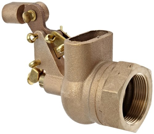 Robert Manufacturing R610 Series Bob Red Brass Float Valve with Compound Operating Lever, 2