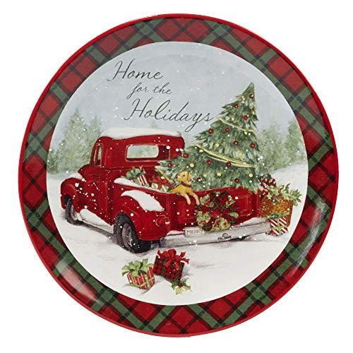 Certified International 22786 Home for Christmas Round Platter 13