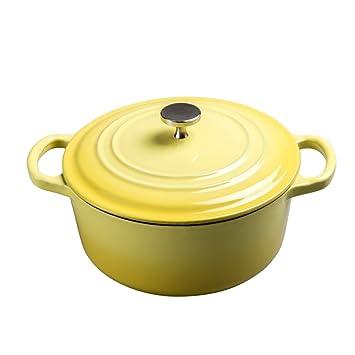 LF DD Sopa cacerola olla de hierro fundido 24 cm espesante cocina olla de esmalte olla