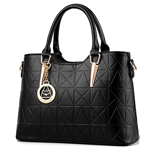 Women Cross Bag Body Dark Handbag with Quilted Shoulder Medium Straps Leather Adjustable Blue Satchel rxfwvqYrz