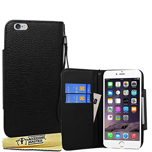 Accessory Master Phantasie PU Wallet Leder Buch Flip Hülle für Apple iPhone 6 Plus schwarz