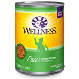Wellness Natural Grain-Free Wet Canned Cat Food, Turkey...