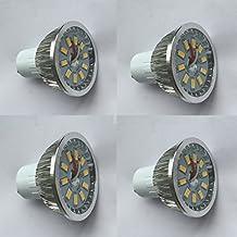 HongYi 4 Pack Mr16 LED Bulbs, 5w SMD Bulbs 50W Halogen Bulb Equivalent 620LM Recessed Lighting Downlight Light Lamp Energy Saving AC 120V(warm white)