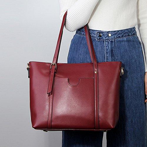 en femme Sac Sac cuir main Bordeaux à épaule portés main M172 Girl Sac E LF portés Sac fashion bandoulière nOzqg8v0w