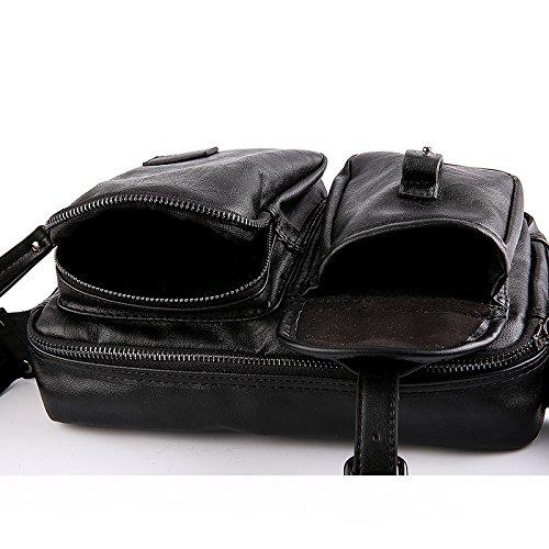 Bolso de hombre cuero bolsos de hombro pecho diagonal