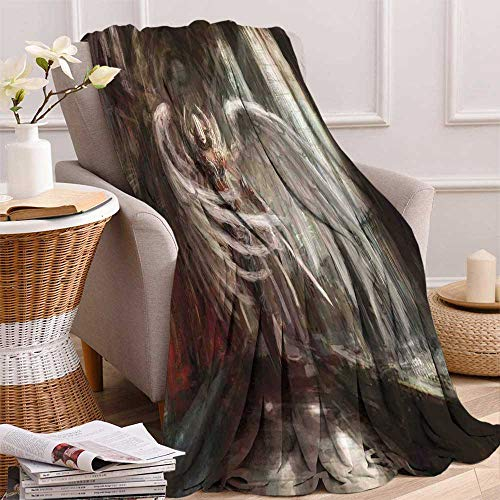 Ancient Warrior Sword - maisi Fantasy Decor Digital Printing Blanket Cyborg Angel Girl Warrior with Sword in Gothic Ancient Historical Architecture Summer Quilt Comforter 62