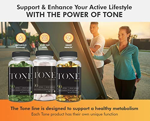 Complete Nutrition Tone Gold, Supports Body Fat Loss, Metabolism & Weight Management, Omega 7, 6 & 3, Sea Buckthorn, 180 Softgels by Complete Nutrition (Image #3)