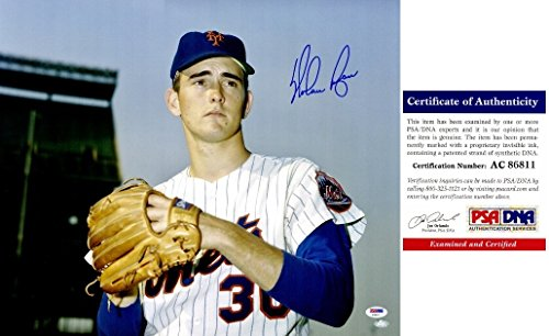 - Nolan Ryan Signed - Autographed New York Mets 16x20 inch Photo - Nolan Ryan Authenticity Hologram - PSA/DNA Certificate of Authenticity (COA)