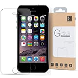 iPhone 5S Screen Protector, iPhone SE Screen Protector HIPPOX [Tempered Glass] 0.2mm Ballistic Glass iPhone 5S / SE / 5C/ 5 Screen Protector Work with Protective Case [Lifetime Warranty]