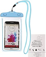Mini-Factory Universal IPX8 Waterproof Pouch Case for iPhone 6 Plus 6 5s 5 5c 4S 4 / Galaxy S6 / S6 Edge / S5 S4 S3 / Note 4 3 2 / HTC One M9 8 7 / LG G2 G3 - Blue
