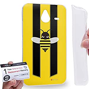 Case88 [Nokia Lumia 640XL] Gel TPU Carcasa/Funda & Tarjeta de garantía - Art Fashion Little Bumblebee A Art2171