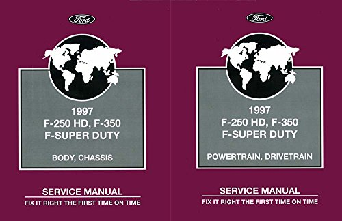bishko automotive literature 1997 Ford F250 Hd, F350, F-Super Duty Truck Shop Service Repair Manual Book OEM