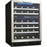 Danby DWC518BLS 5.1 Cu. Ft. 51-Bottle Silhouette Wine Cellar - Black/Stainless