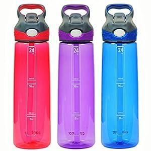 Contigo Autospout Addison Water Bottle, 24 oz - Watermelon, Lilac & Monaco (3 Pack)