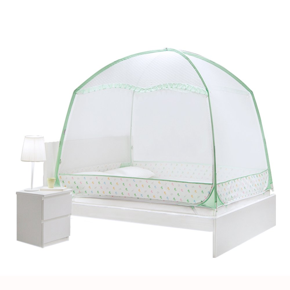 XRXY Mosquito Net Yurt Encryption Practical Mosquito Net/Thicken Bedroom Increase Mosquito Net/with Zipper Breathable Baby Mosquito Net (Color : A, Size : 1.8M)