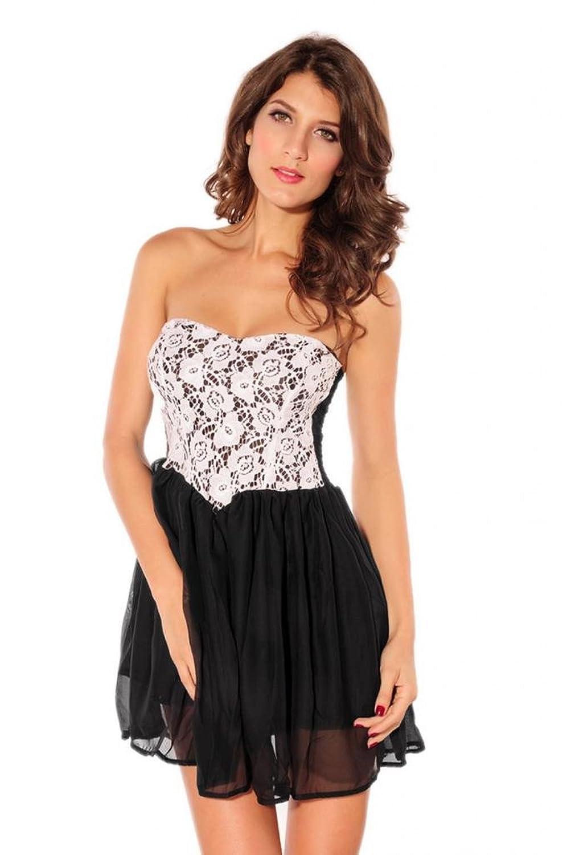 EOZY Bandeau Prinzessin Midi Bodycon Kleid Sommerkleid Etuikleid Abendkleid