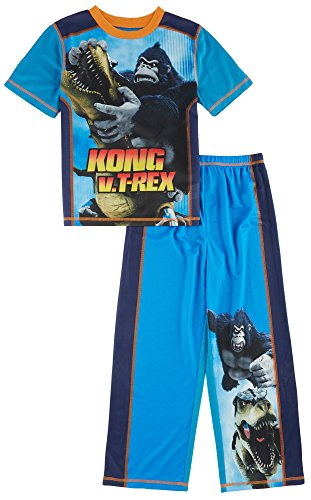 Kong King Of The Apes Big Boys 2pc Sleepwear Set, Blue, M 8