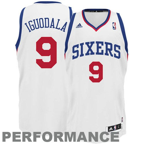 NBA Men s Philadelphia 76ers Andre Iguodala Revolution 30 Home Swingman  Jersey H Size (White 503cd056d