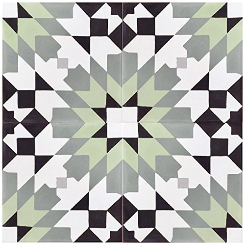 - Rustico Tile and Stone RTS21 Casablanca Green Cement Tile Pack of 13, 8