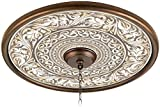 Florentine Flourish 24'' Giclee Bronze Ceiling Medallion