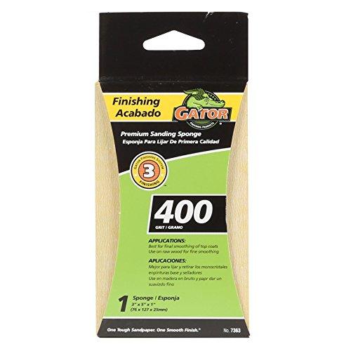 Gator Finishing 7363 400 Grit Aluminum Oxide Sanding Sponges (1 Pack), 3