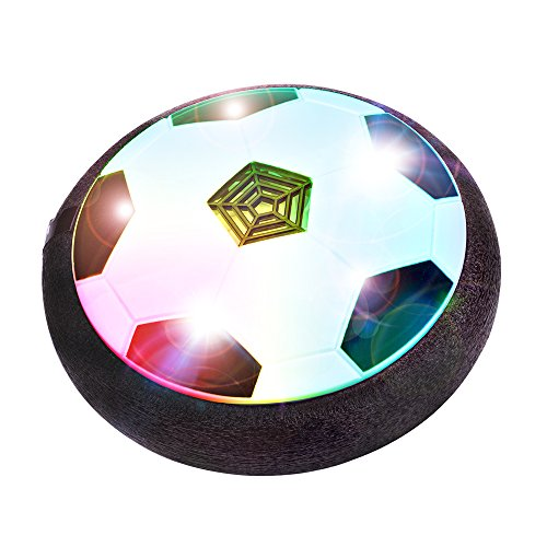 Soccer Ball Air - BONAOK Kids Toys Air Power Soccer Ball, Kids Disk Hover Ball Equipped With LED Lights, Sports Toys With Foam Bumpers,Indoor or Outdoor Activities