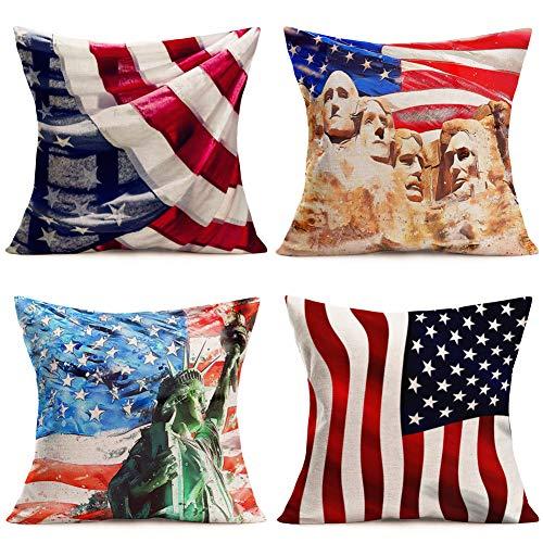 Retro Flag Ocean Nautical Cotton Linen Cushion Cover Throw Pillow Case Car Decor