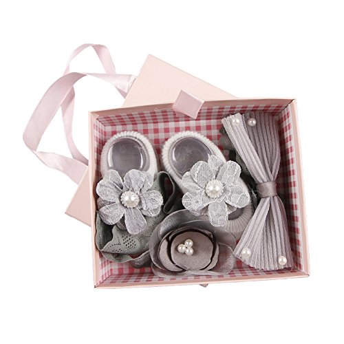 2add086abd50 Galleon - Baywell Baby Girl 3Pcs Hair Accessories Set, Cute Hair Clip  Hairpin Infant's Gift Box (I)
