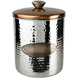 Buddy's Line Hammered Stainless Steel & Copper Top Treat Jar, 16 oz