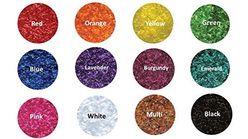 12-1/4 oz Bottles Edible Glitter - Red, Orange, Yellow, Green, Blue, Lavender, Burgundy, Emerald, Pink, White, Multi, and ()