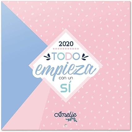 Erik, Calendario de pared 2020 Amelie, 30 x 30 cm: Amazon.es: Oficina y papelería