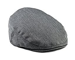 Born To Love Grey Herringbone Driver Page Boy Cap-Xs