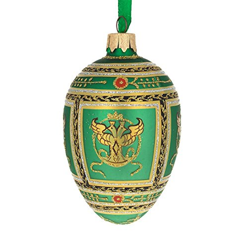 BestPysanky 1912 Napoleonic Royal Egg Glass Ornament