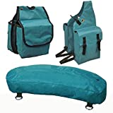 Tahoe Nylon Saddle Bags for Trail Riding (Set of 3), Green