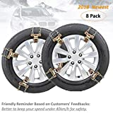 Fun-Driving 8 Pack Tire Chains,Snow Chains,Heavy-Duty,Durable and Adjustable,for SUV,Truck,RV, ATV, Tire Width 205-275mm/8-10.8""