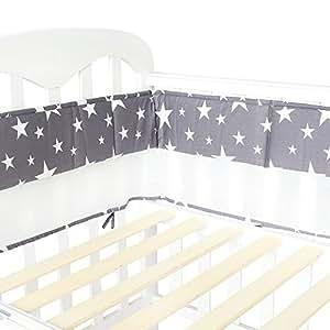 Lifetree protectores para cunas y camas de beb 4 lados 2 lados twinkle estrellas amazon - Protectores para cama cuna ...